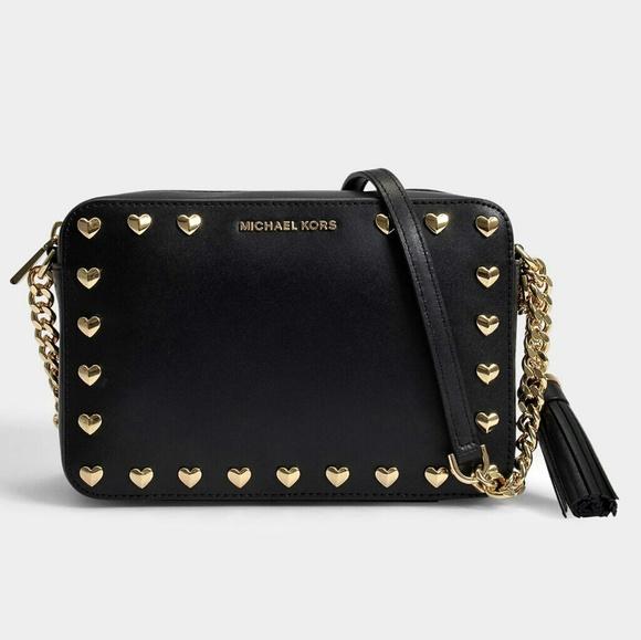 00628b974e41 Michael Kors Heart Stud Ginny Camera Bag